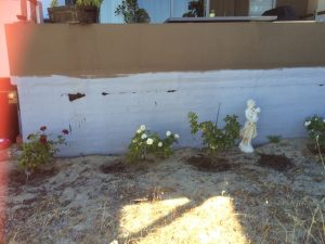 Before perth landscaping work