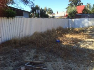 Perth landscaping before our design