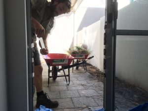 During Perth Landscaping work